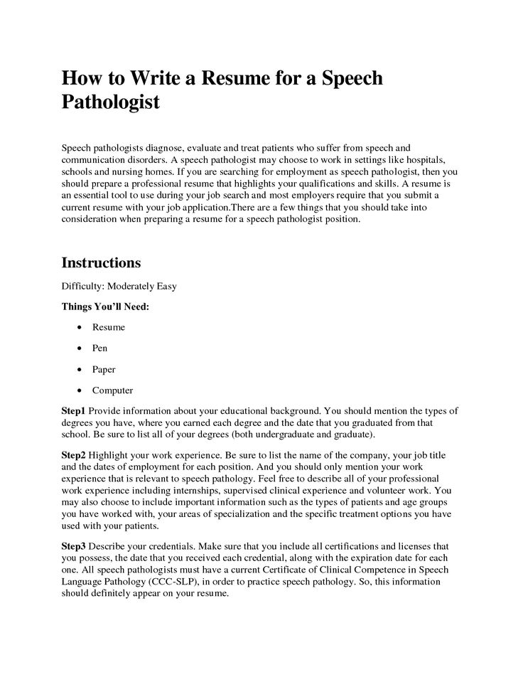 Speech pathologist assistant cover letter