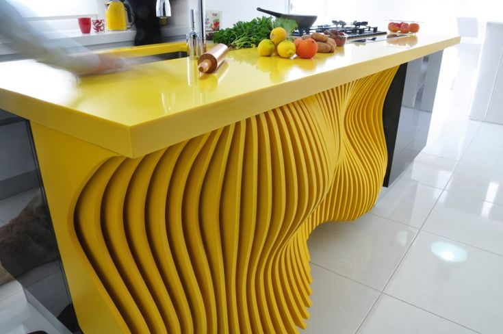 The kitchen with a yellow soul