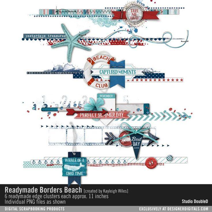 Readymade Borders: Beach- Studio Double-D Elements- EL014152- DesignerDigitals
