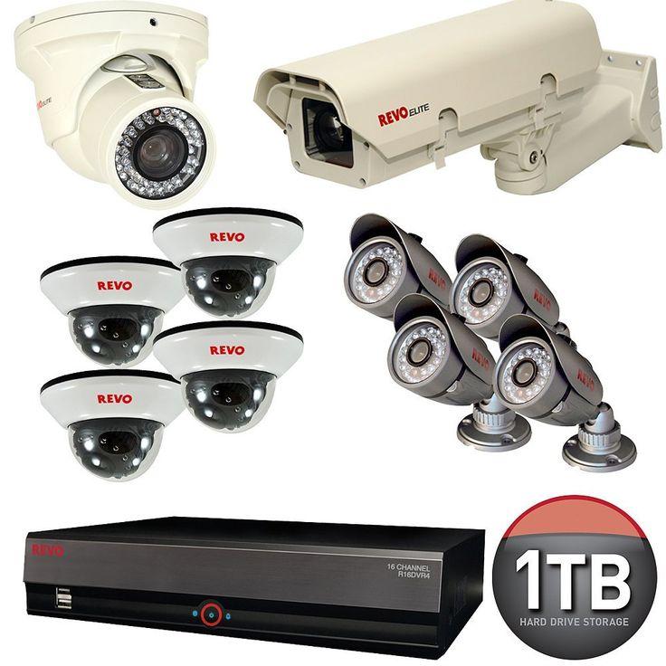 $1,299.99 : Revo RE16BNDL-S1 Elite Bundle 16-Channel #SecuritySystem with 1TB DVR : #BulletCameras