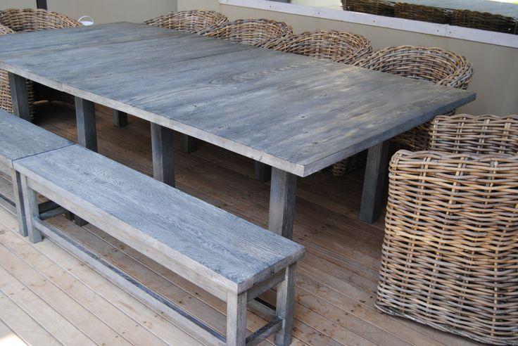 Outside Greyed Oak Table