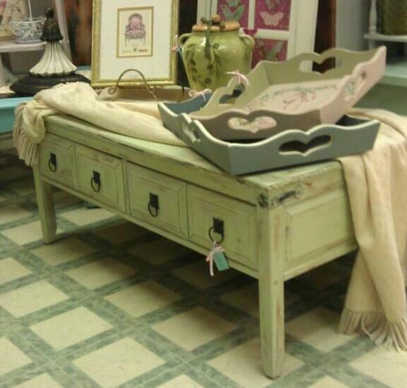 Lime Green Coffee Table SOLD