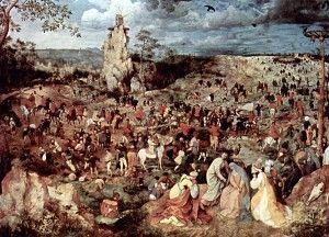 Pieter Bruegel der Ältere: Aufstieg zum Kalvarienberg, 1564