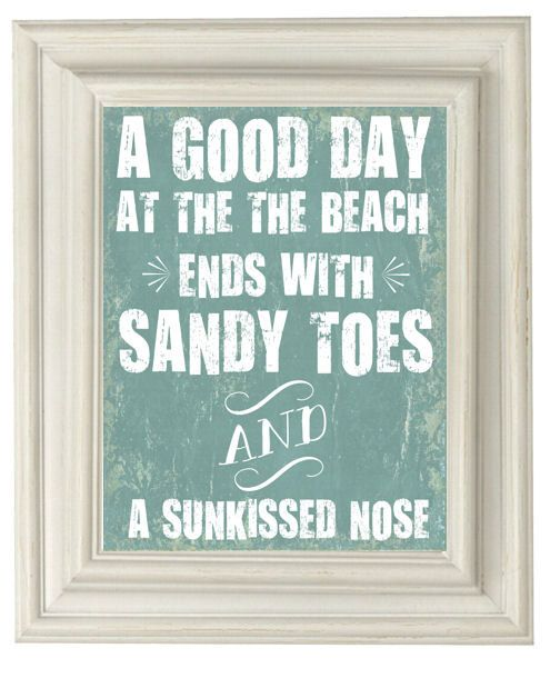 Sandy toes + sunkissed nose