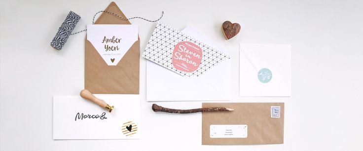 Verstuur je trouwkaarten in stijl - mooi verzenden - enveloppen - sluitstickers - adresetikketten