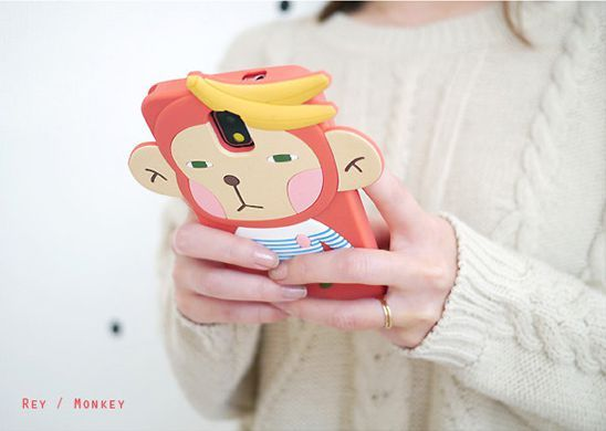 Galaxy Note 3 Romane Hello Geeks Adorable Character Case - Monkey