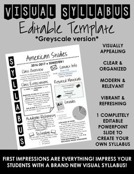 Visual syllabus editable template create your own for Create a syllabus template
