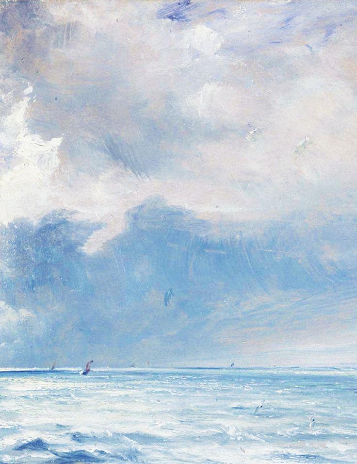 The Sea near Brighton (detail), John Constable, 1826.