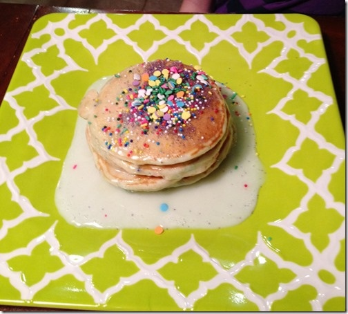 30 best Birthday cake pancakes images on Pinterest Birthday cake