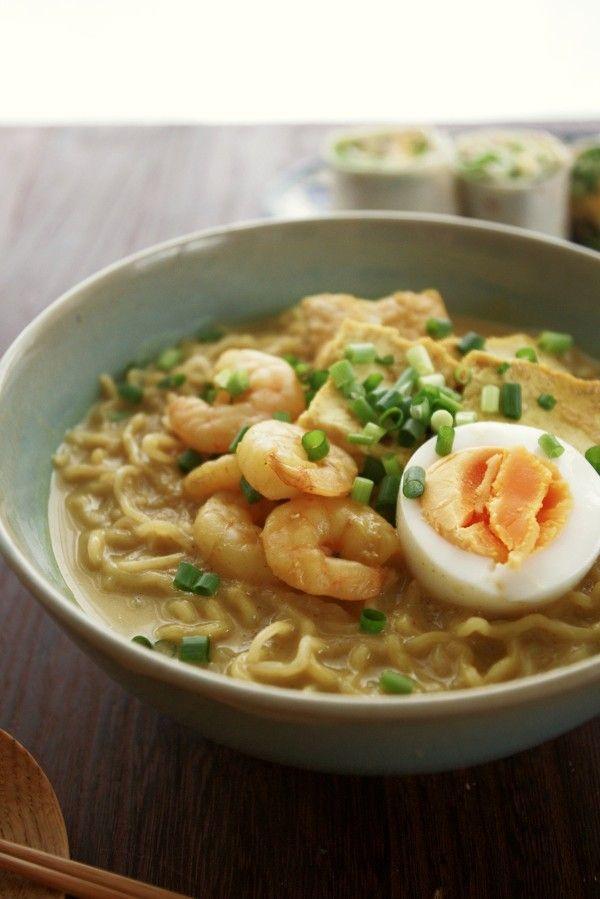 スパイシーなシンガポールの麺、ラクサヌードル風ラーメン by ヤミー ...