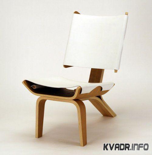 Роскошный стул из фанеры и кожи