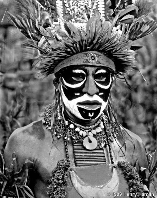Henry Hamlin - Papua Warrior, Papua, New Guinea, 1999. S)