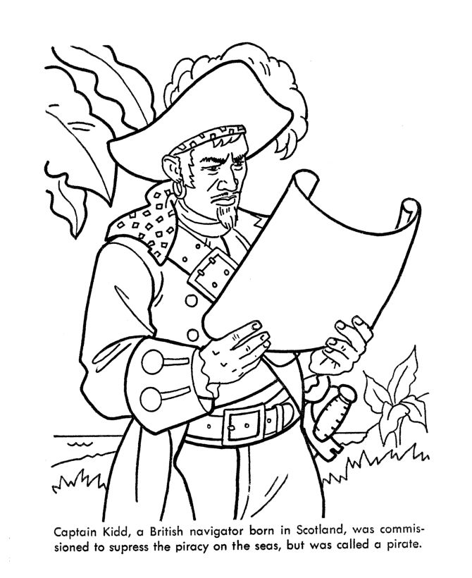 Caribbean Pirates of the Sea Coloring