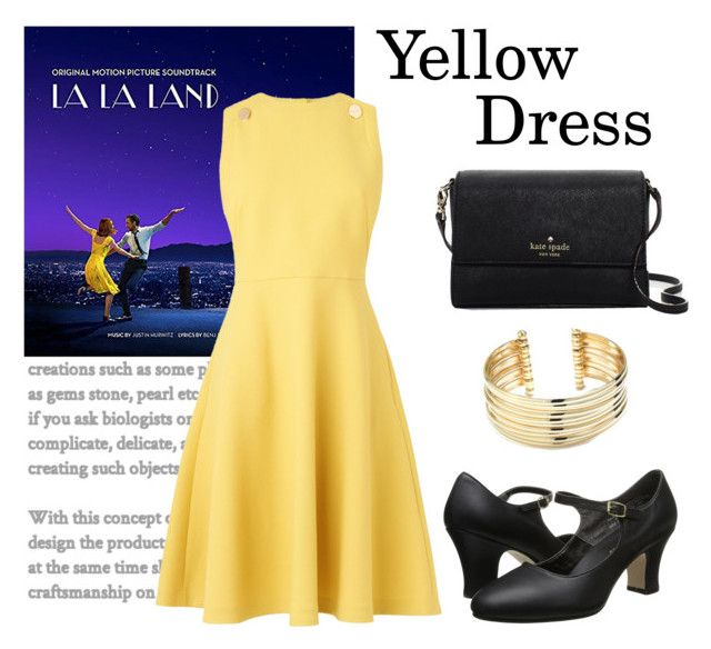 La La Land by monique-joanne on Polyvore featuring polyvore, fashion, style, L.K.Bennett, Capezio, Kate Spade, Belk Silverworks, clothing and yellowdress