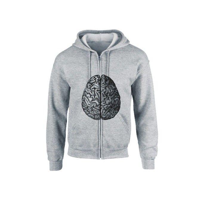 Brain Hooded Sweat Jacket.