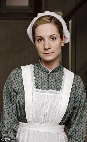 Joanne Froggatt as Anna Bates, Mary's lady's maid, in Downton Abbey.