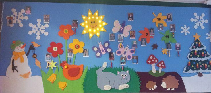 Geburtstagskalender Bild 1 Kindergarten aus Filz