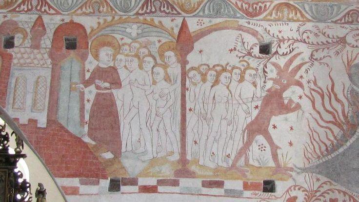 Munk fører mennesker til frelse, Fanefjord Kirke