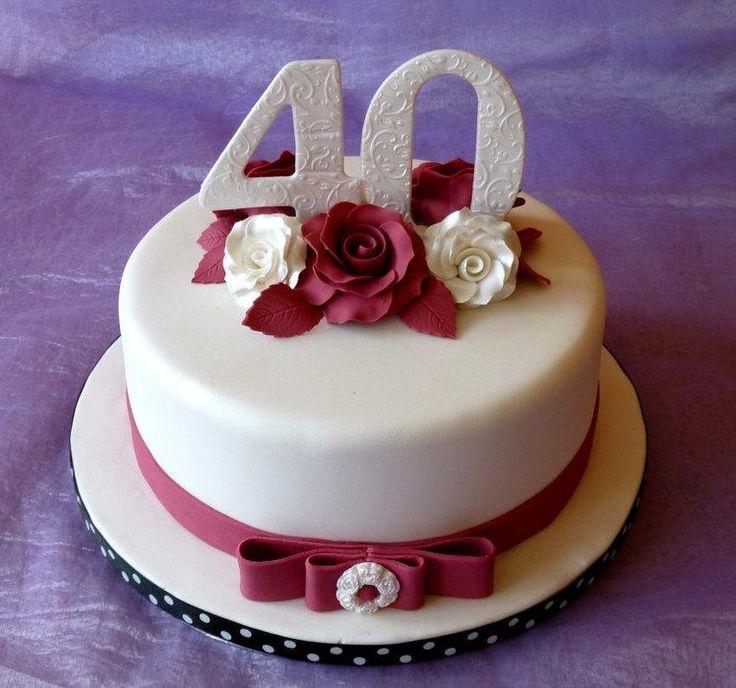 Ruby Wedding Anniversary - Cake by Sue