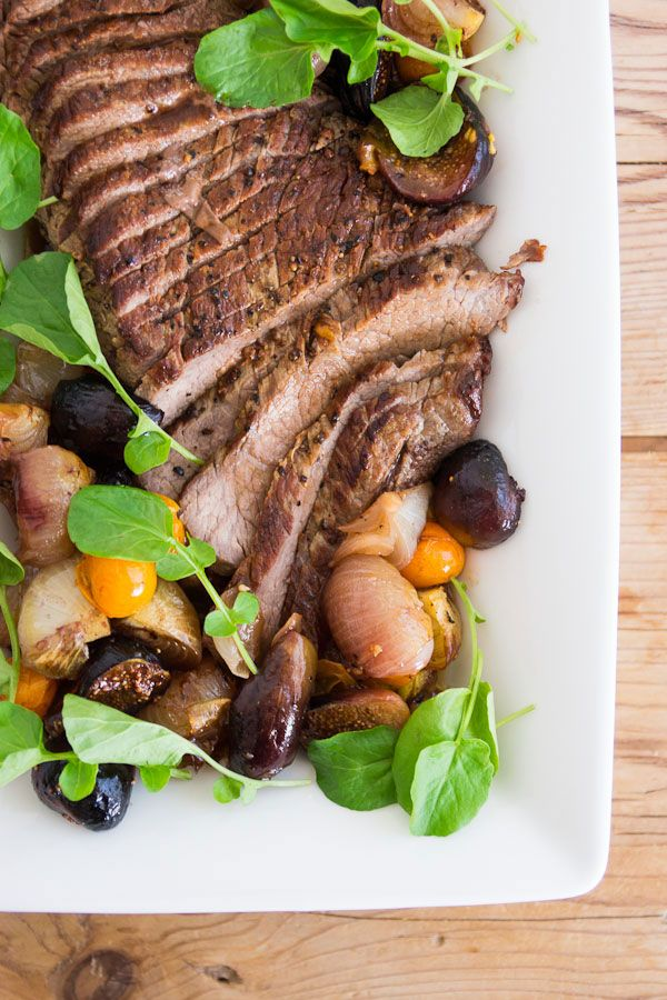 Trifecta of FLAVOR: Beef tri-tip recipe with roasted figs, tomatoes, and onions: Beef Recipes, Roasted Figs, Tried Tips Recipes, Beef Tritip, Beef Tried Tips, Tritip Recipes, Cipollini Onions, Tomatoes, Pbs Food