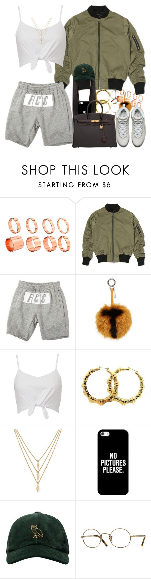 """OVO Crew"" by dope-madness ❤ liked on Polyvore featuring ASOS, Fendi, Forever 21, Casetify, October's Very Own, Oliver Peoples and Hermès"