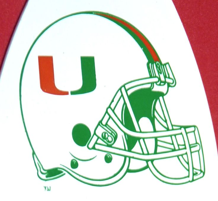 University of Miami Hurricanes Canes UM Football Helmet Tag Coral Gables Florida #UniversityofMiamiHurricanesCanes