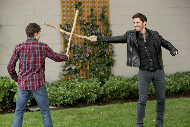 Bonding time with Henry and Hook.