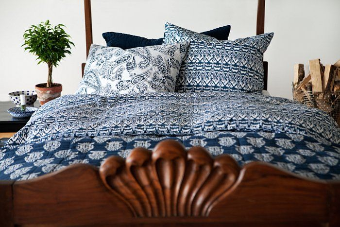Bedspread and cushions from Chhatwal & Jonsson