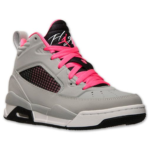 hot sale online 0a476 abe49 jordan air flight grey pink and green boys