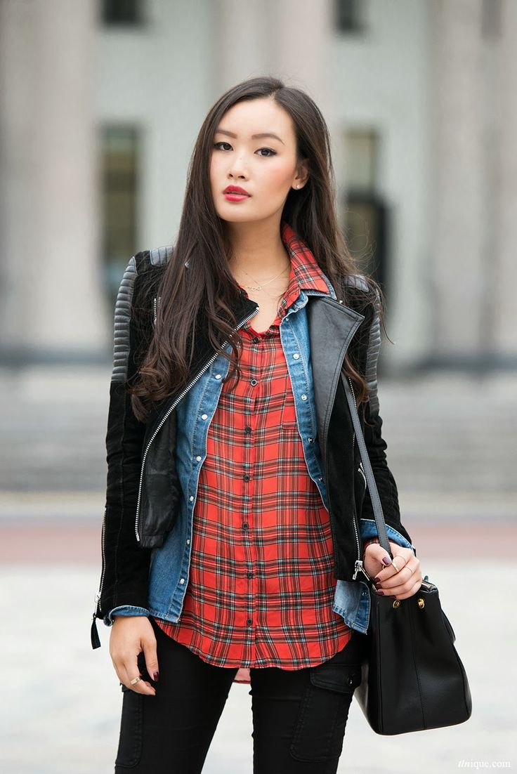 Ripped jeans flannel shirt   best Denim research images on Pinterest  Fashion women Fall