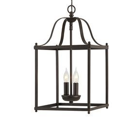 allen + roth Collinwick 10-in W Specialty Bronze Pendant Light with Shade/ entry