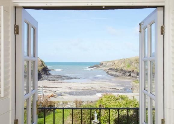 View from A Stone Cottage in North Cornwall Near Doc Martin's House