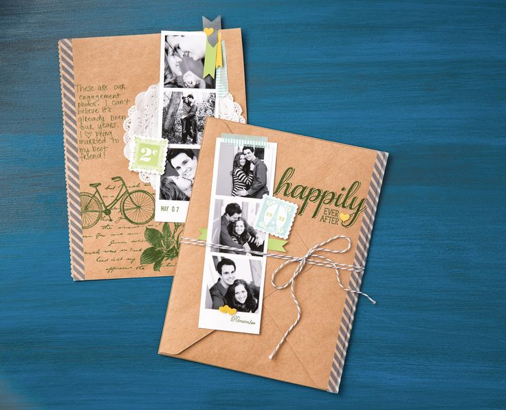 Create an envelope-inspired scrapbook page using the Envelope Punch Board. #journal #memorykeeping