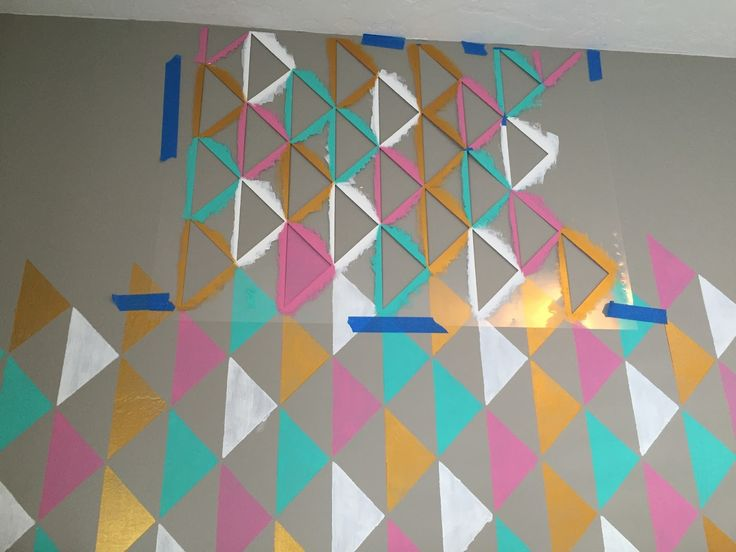 tutorial, how to, paint, how to stencil, stencil tutorial,wall stencil, triangle…