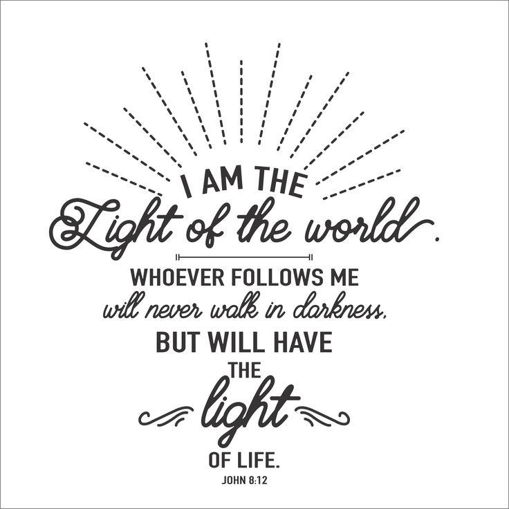 John 8:12 I Am The Light Of The World