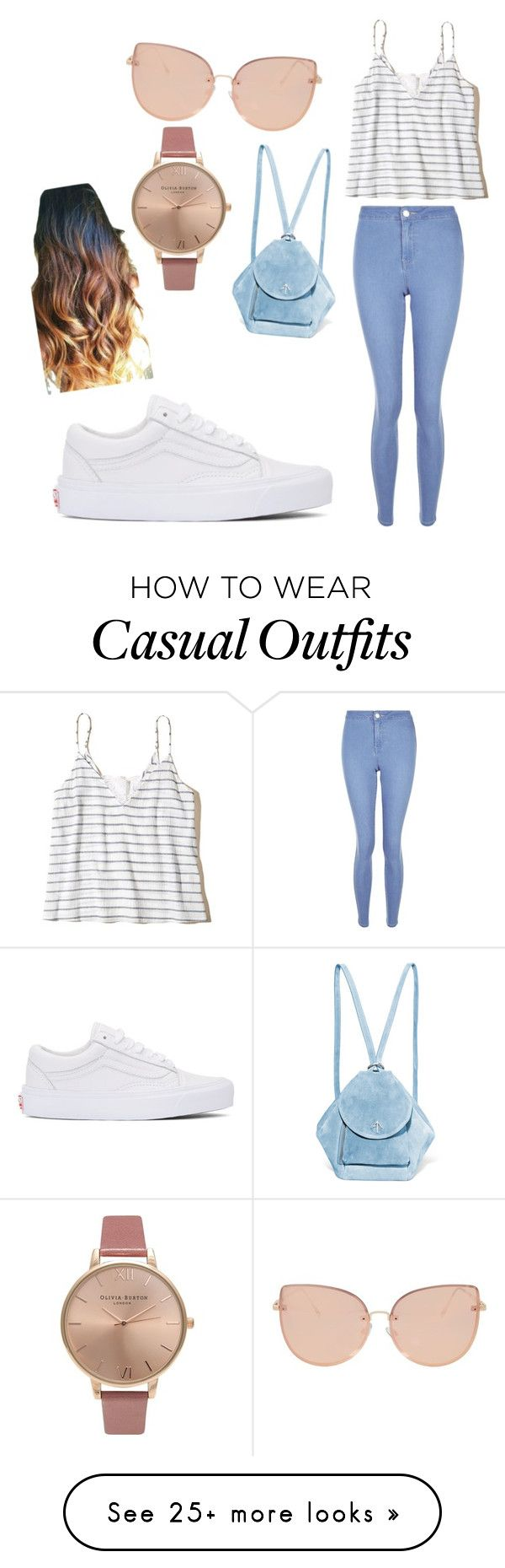 """casual"" by hidayethidou on Polyvore featuring New Look, Hollister Co., Vans, MANU Atelier, Topshop and Olivia Burton"