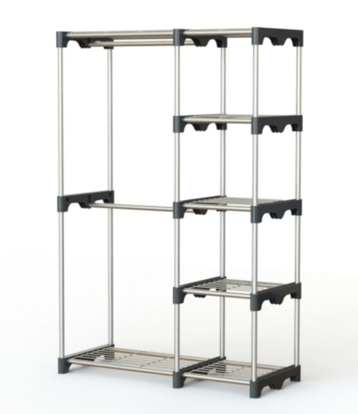 Clothes Hanging Rack Portable Clothes Rack Free Standing Closet Laundry  Room Organizer Heavy Duty Double Rod