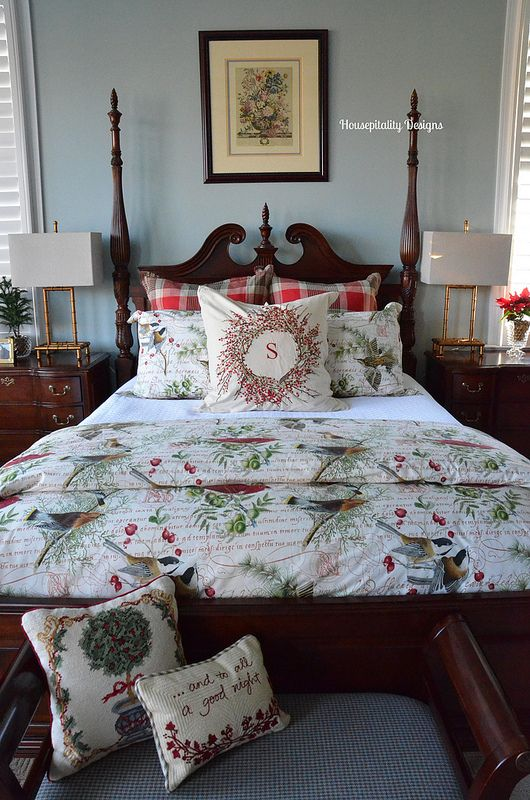 The 387 best images about Christmas Bedrooms on Pinterest