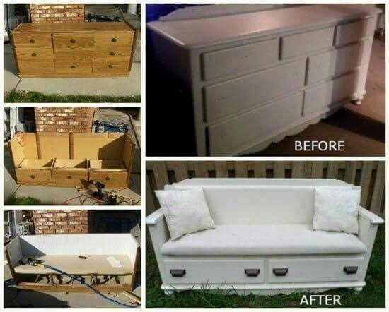 Upcycle dresser