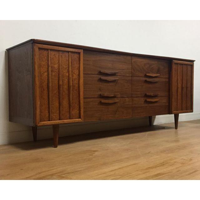 Image of Long Walnut Dresser Credenza