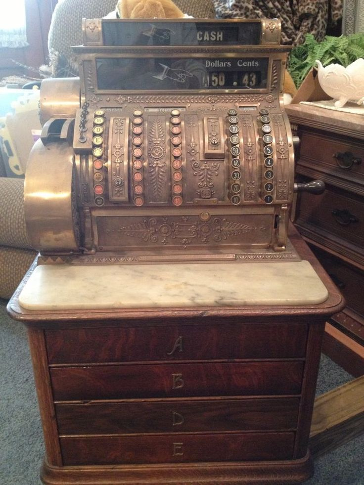 Antique NCR brand cash register early 1900's Antiques