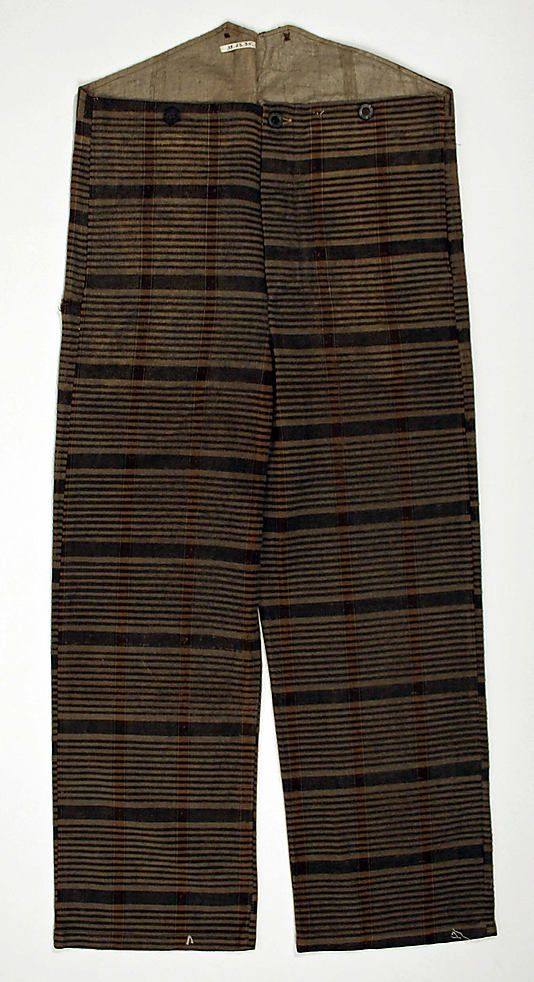 Trousers  Date: ca. 1830 Culture: European Medium: wool