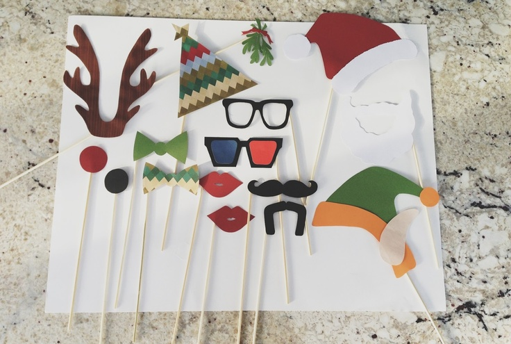 Life is sweet: Christmas Photo Booth Props