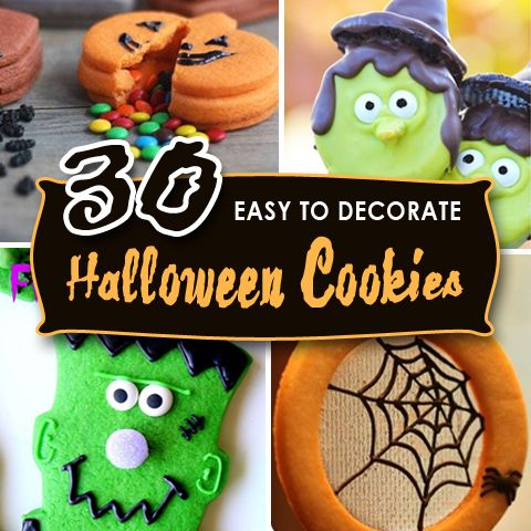 30 easy to decorate halloween cookies - Halloween Cookies Decorating Ideas