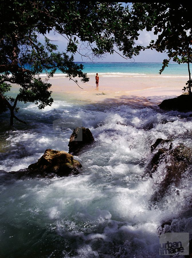 Laughing Water Beach - Ocho Rios. It's good luck for a couple to dunk in the healing waters!