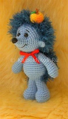 Милый ежик   Вязание для детей   Вязание спицами и крючком. Схемы вязания.