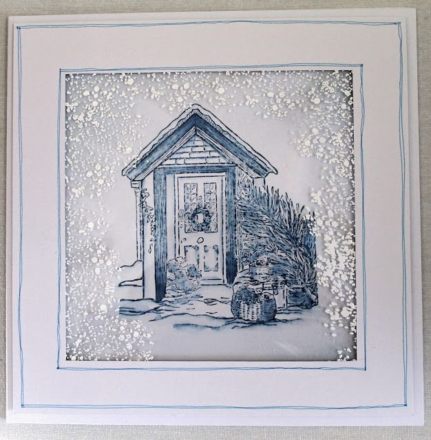 Paper, Card and Ink - Sheena Douglass stamp with snow