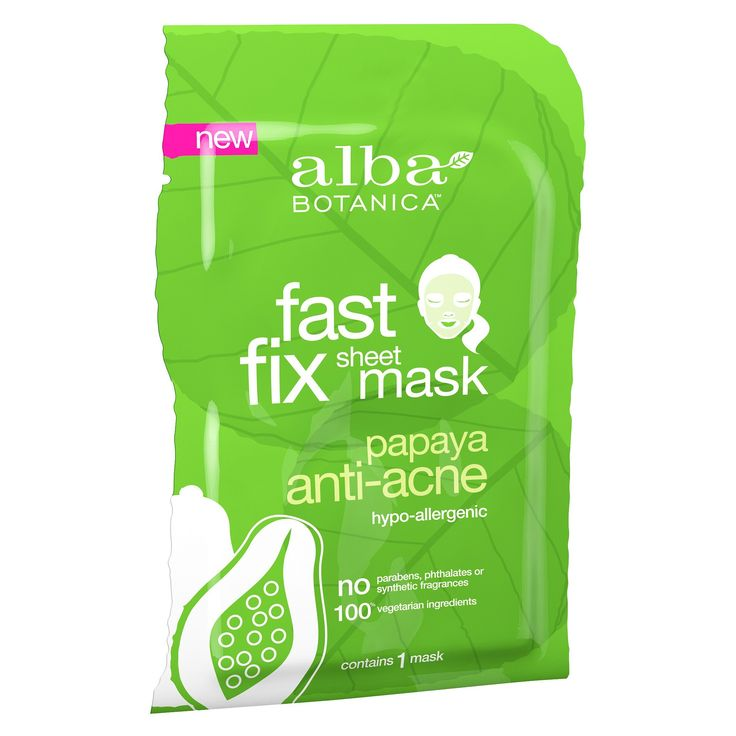 Alba Botanica Anti-Acne Sheet Mask - Papaya - 1ct