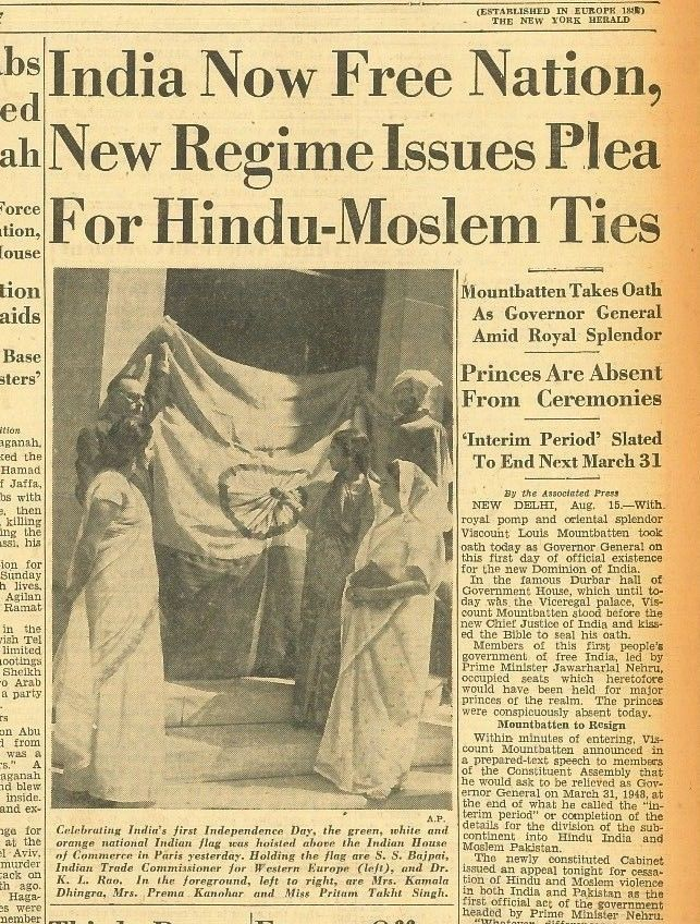 Partition Of India Now A Free Nation Gandhi Hindu Moslem Ties 16
