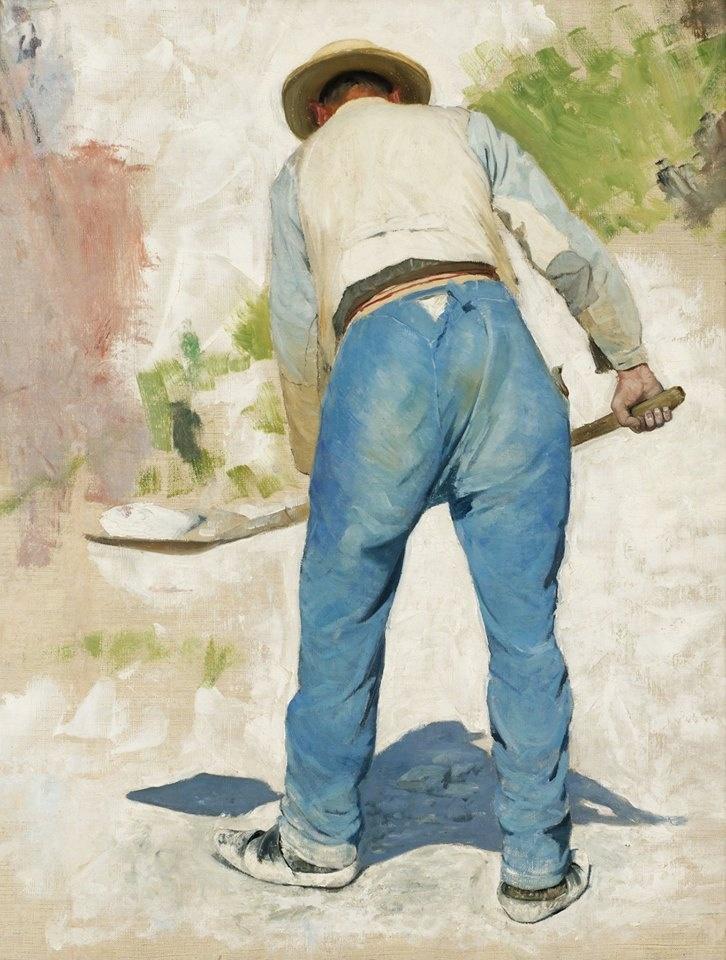 carl larsson swedish painter and interior designer and representative of the arts and crafts movement 1853 1919 trdgrdsmstaren gardener